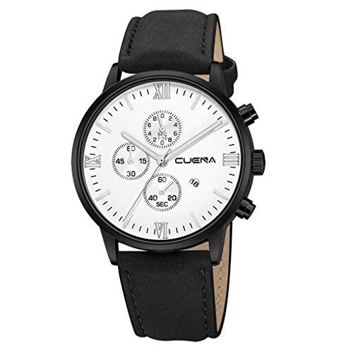 Men's Dress Wrist Watch Casual Classic Stainless Steel Quartz Wrist Business Analog Watch with 43mm Case,MmNote(A)