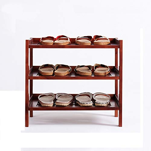 Shoe Racks MEIDUO, Solid Wood, 3-Layer, Wooden Storage Shoes -603554cm (Material : Birch)