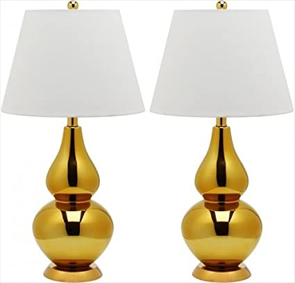 double gourd lamp cream safavieh cybil double gourd lamp set of 2 gold base and neck with amazoncom