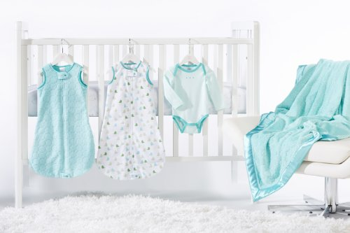 SwaddleDesigns zzZipMe Bedding Turquoise 3 6months