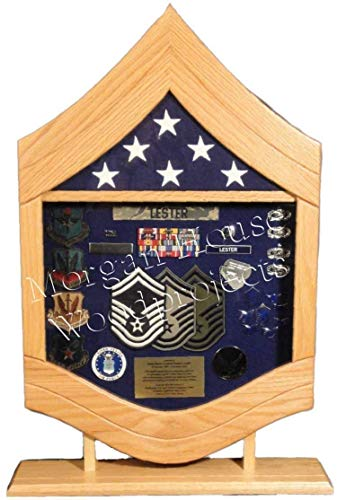 (E-8 Air Force Senior Master Sergeant (SMSgt) Shadow Box/Retirement Display)