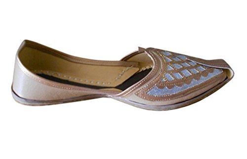Kalra Creations - Zapatillas de estar por casa de piel sintética para hombre marrón claro