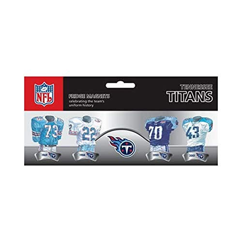 (NFL Tennessee Titans 4-Pack Uniform Magnet Set )