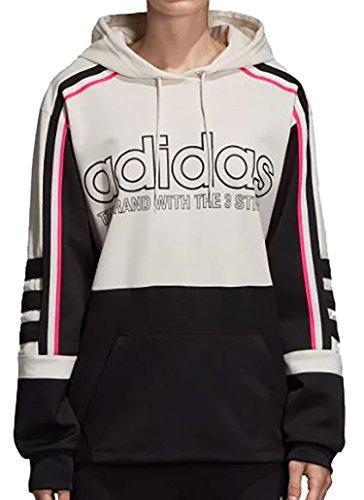 Hood nero Cappuccio Con Adidas Donna Felpa Cbianco gqFB6Bx