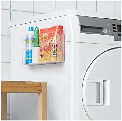 Clear 3 x 11 x 3.25 Shelf for Kitchen Craft Room Bedroom Bathroom iDesign AFFIXX Plastic Wall Mount Organizer Rack Office