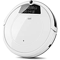 Fmart Robot Vacuum Cleaner E-R550W, Strong Suction, Self-Charging Robotic Vacuum Cleaner with Drop-Sensing and HEPA Filter, Wet Dry Vacuum Mopping Cleaner for Pet Hair, Hard Floor and Thin Carpet