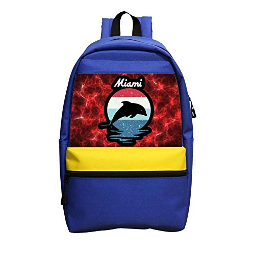 Lover Bei Miami Beach Dolphin Oxford Travel Backpack Shoulder Bags School Backpack ()