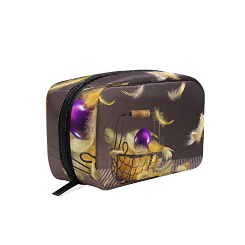 Cosmetic Makeup Bag Pouch Easter Basket Feathers Egg Clutch]()