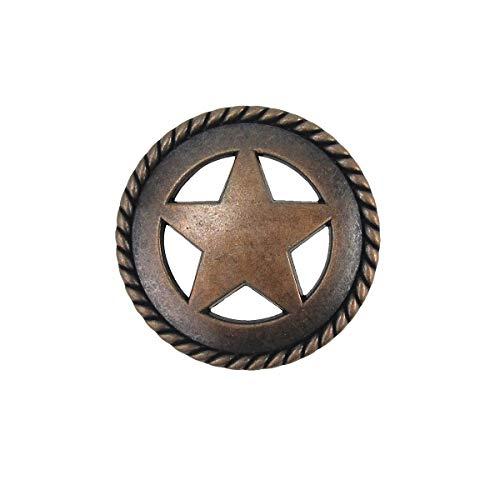 Bronze Star Kitchen Drawer Bin Pull Screw Vanity Knob Western Cabinet ()