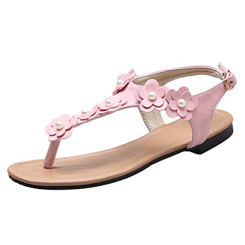 Coolcept Women Fashion Thongs Sandals Flower Pink 7LyfbEEX