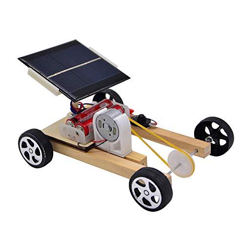 애니스턴 어린이 장난감 태양 전원 나무로 되는 풀리 자동차 TOY 과학 프로젝트 실험 교육 모델 DIY 어린이를위한 장난감 유아 남자 여자