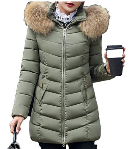 Down Warm Women Outwear Winter Army Thickened Long Parka Green Coats Puffer EKU XnWf1pOW0