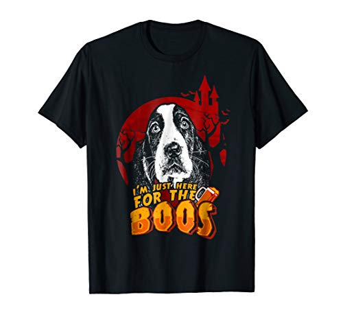 Basset Hound Here For The Boos Funny Halloween Shirt -
