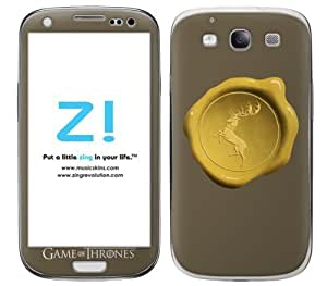 Zing Revolution Game of Thrones Premium Vinyl Adhesive Skin for Samsung Galaxy S 3, Baratheon Seal Image, MS-GOT240415