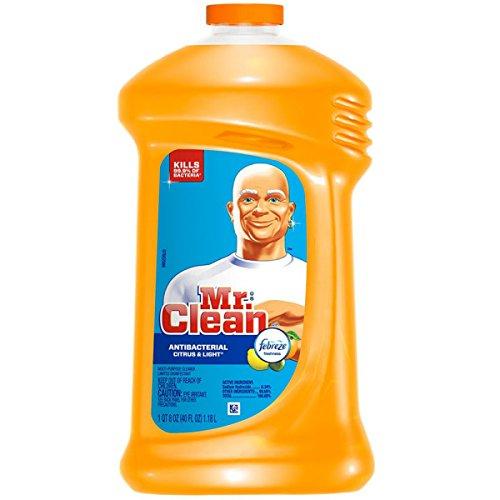 Mr. Clean M. Net Citrus & Light Scent, Febreze Freshness Multi Purpose Cleaner 40 Fl. oz, Pack of 3