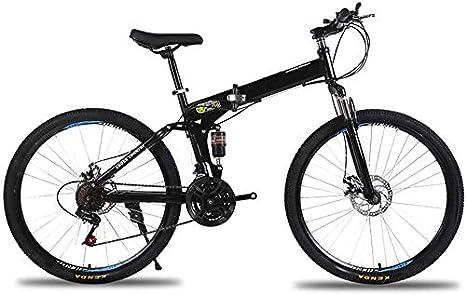 LAZNG Marco de 26 Pulgadas Bicicleta de montaña Plegable de Acero ...