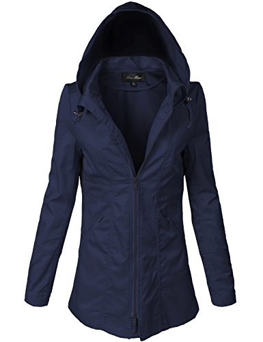 Water Resistant Back Waist Cinched Utiliy Jackets; Water Resistant Back Waist Cinched Utiliy Jackets; Water Resistant Back Waist Cinched Utiliy Jackets, Drak Navy, Large
