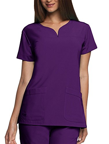 - Signature by Grey's Anatomy Women's Notch Neck Solid Scrub Top XXXX-Large Dewberry