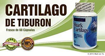 Shark Cartilage (60-caps) Cartilago de Tiburon glucosamina dieta huesos Health
