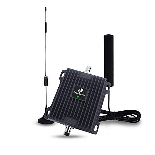 Cell Phone Signal Booster for Car and Truck - Enhance 4G LTE Data for Verizon, AT&T and T-moilbe - Dual Band 700MHz Signal Repeater Kit for Vehicle Use from Phonetone