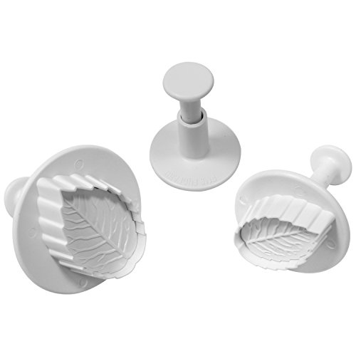 PME Plunger Cutters, Veined Rose Leaf