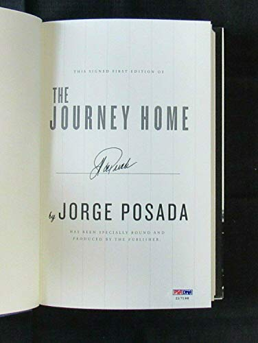 Jorge Posada Signed Auto Autograph The Journey Home Hardcover Book Z1719 - PSA/DNA Certified - MLB Autographed Miscellaneous Items