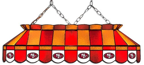 - Imperial Officially Licensed NFL Merchandise: Tiffany-Style Stained Glass Billiard/Pool Table Light, San Francisco 49ers