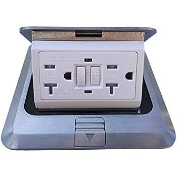 Pop Up Floor Box Countertop Box W 20a Gfi Receptacle