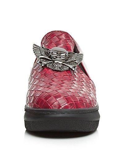 Silver Uk5 5 Rojo Redonda Mujer Y Tacón Uk6 Negro Mocasines Zapatos De Gyht Eu39 Plata Semicuero Punta Eu38 Trabajo us7 us8 5 Cn38 Casual Cn39 Plano Silver Oficina Zq qZFTS0