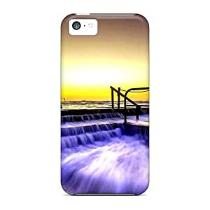 [CCJ29463Hbhw] - New Overflowing Waves Protective Iphone 5c Classic Hardshell Cases
