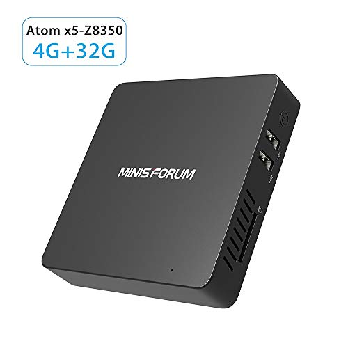 Desktop Mini Computer,Mini PC Intel Atom Z8350 Processor(2M Cache,up to 1.92GHz) 4GB RAM/32GB EMMC HDD/HDMI/4K HD/WiFi/BT4.0/ Windows 10 64bit