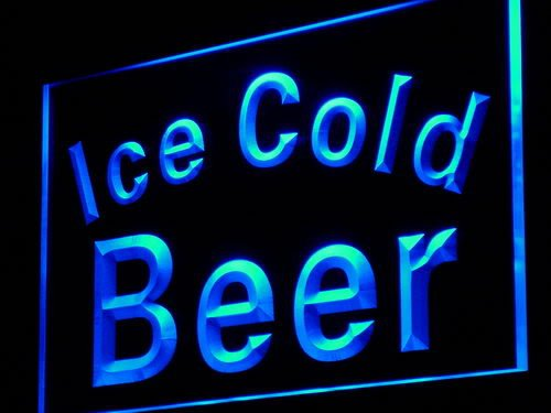 Ice Cold Beer Bar Pub Club LED Sign Neon Light Sign Display i857-b(c) - Club Pub Sign