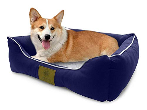 American Kennel Club Self-Heating Solid Pet Bed Size 22x18x8' , Navy