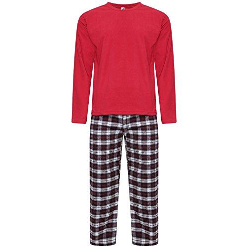 Style Set Due Uomo Pigiama burgundy Pj Pezzi It Up Red PRqxAPw7r
