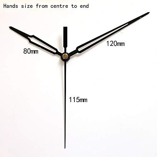 Maslin 100sets S Shaft Clock Hands 11# Quartz Clock Accessory DIY Black Hands Metal Aluminum Material DIY Clock Kits