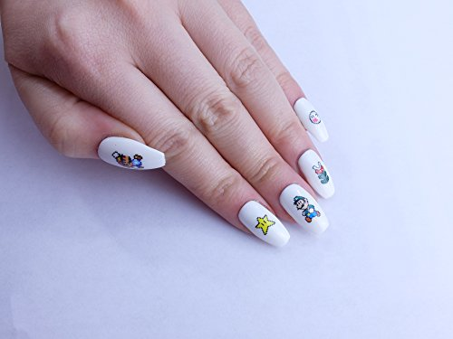 Super Mario Custom Press on Nails by Unicornails