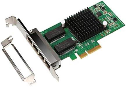 KESOTO LANネットワークカード 4ポート PCI-E ギガビット イーサネット ネットワークアダプター