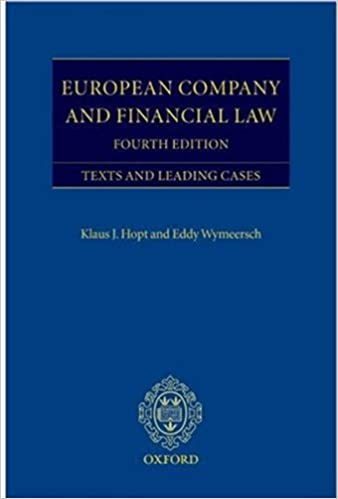 European Company and Financial Law: Texts and Leading Cases