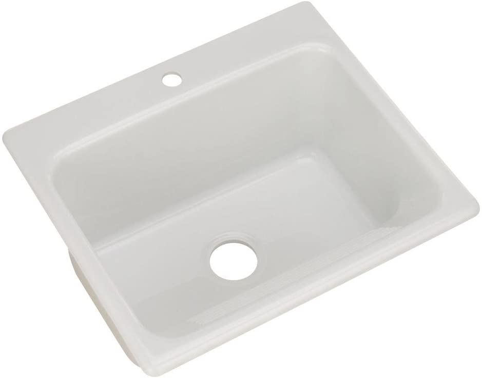 Thermocast Kensington Drop In Acrylic 25 In 1 Hole Single Bowl Utility Sink In White Amazon Com