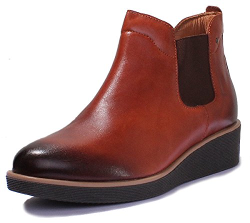 Low Leather Chelsea Reece Brown Heel Ankle Boots Womens Justin dfnxPwYx