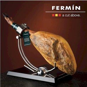 Fermin Bone-in Jamon Serrano Ham Pack (17-19 Lbs. Ham+knife+holder) by Fermin