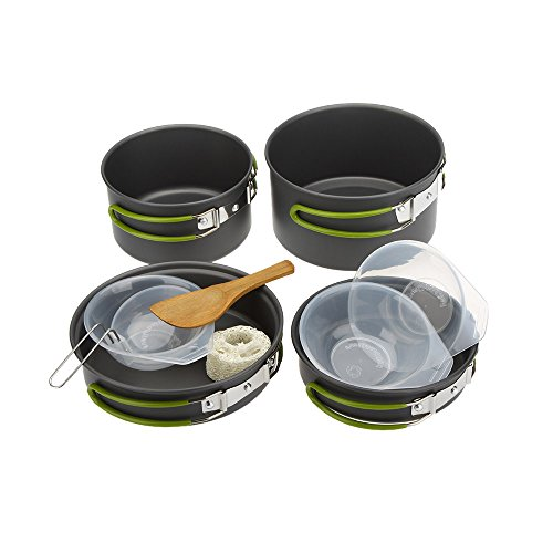 Lixada Cookware Camping, 2-3 People Portable Tableware Multifunctional Portable Cooking Set or Outdoor Camping Hiking Picnic Review