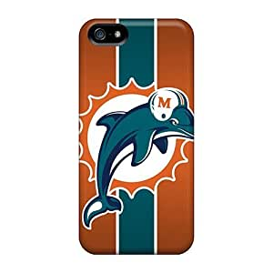 High Quality Cynthaskey Miami Dolphins Skin Case Cover Specially Designed For Iphone - 5/5s
