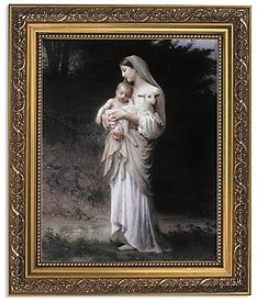 US Gifts Bouguereau: Innocence Series BestsellersPrint in Ornate Gold Finish Frame Wx H
