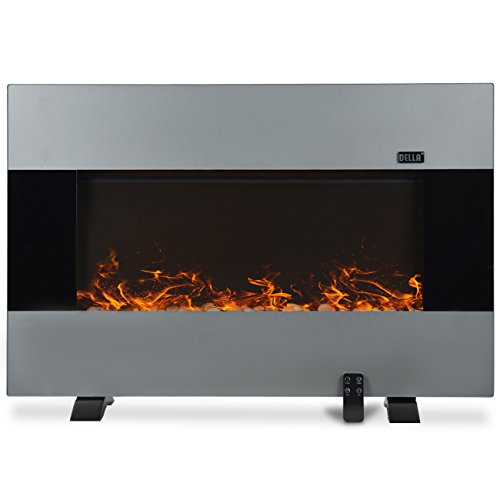 Della Electric Standing Fireplace Stainless