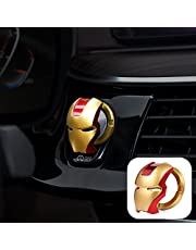 Car Engine Start Stop Button Cover, Push Ignition Start Button Ring Car Interior Protective Switch Button Cover Universal Anti Scratch Decorative Stickers