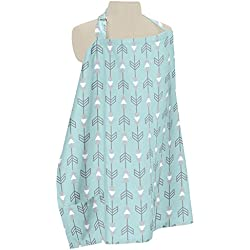 Sweet Jojo Designs Turquoise Blue and Grey Arrow Infant Baby Breastfeeding Nursing Cover Up Apron