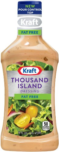 Kraft Thousand Island Fat Free Salad Dressing (16 oz Bottles, Pack of 6) (Best Store Bought Caesar Dressing)