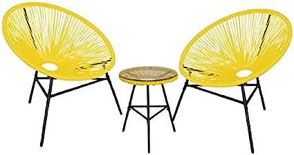 Kiefergarden Amarillo Conjunto 2 sillas Mesa Acapulco: Amazon.es ...