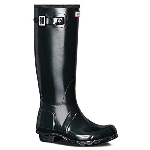 Hunter Women's Original Tall Gloss Boot in Ocean Size 9 by Hunter